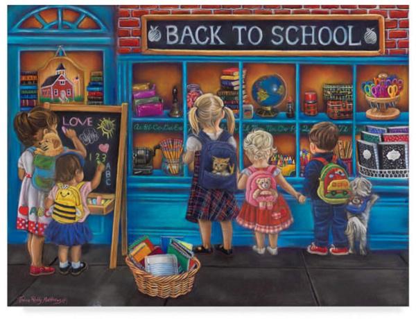 Tricia Reilly-Matthews 'Back To School' Canvas Art