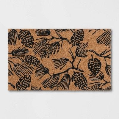 Pinecone Welcome Mat