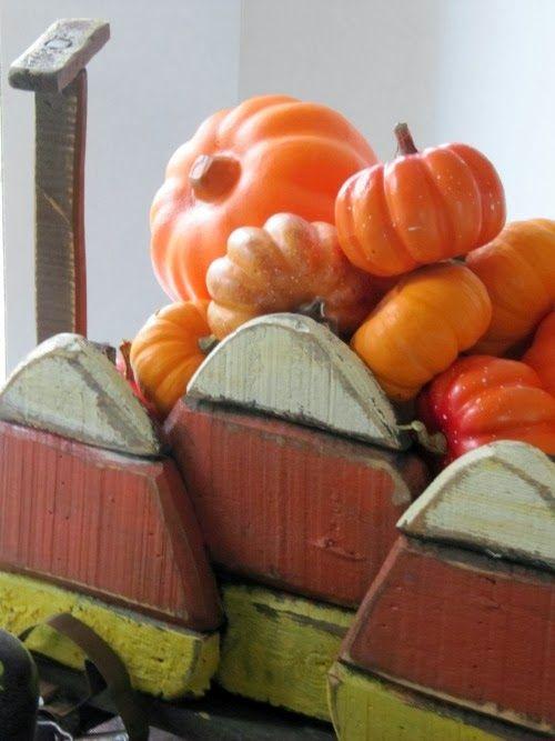 Candy Corn Wood Wagon