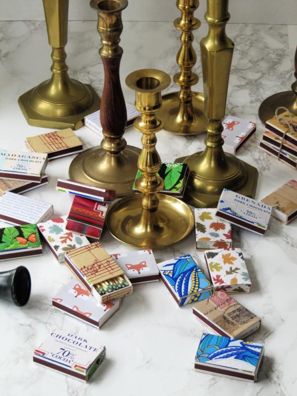 Brass Candlesticks Matchboxes