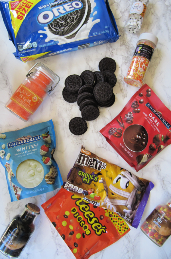Halloween Chocolate Covered Oreo Ingredients