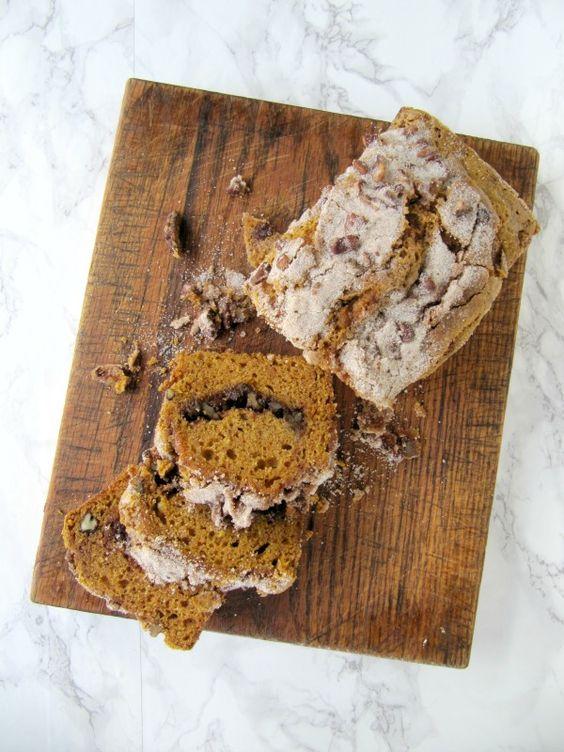 Bourbon Pumpkin Spice Swirl Bread