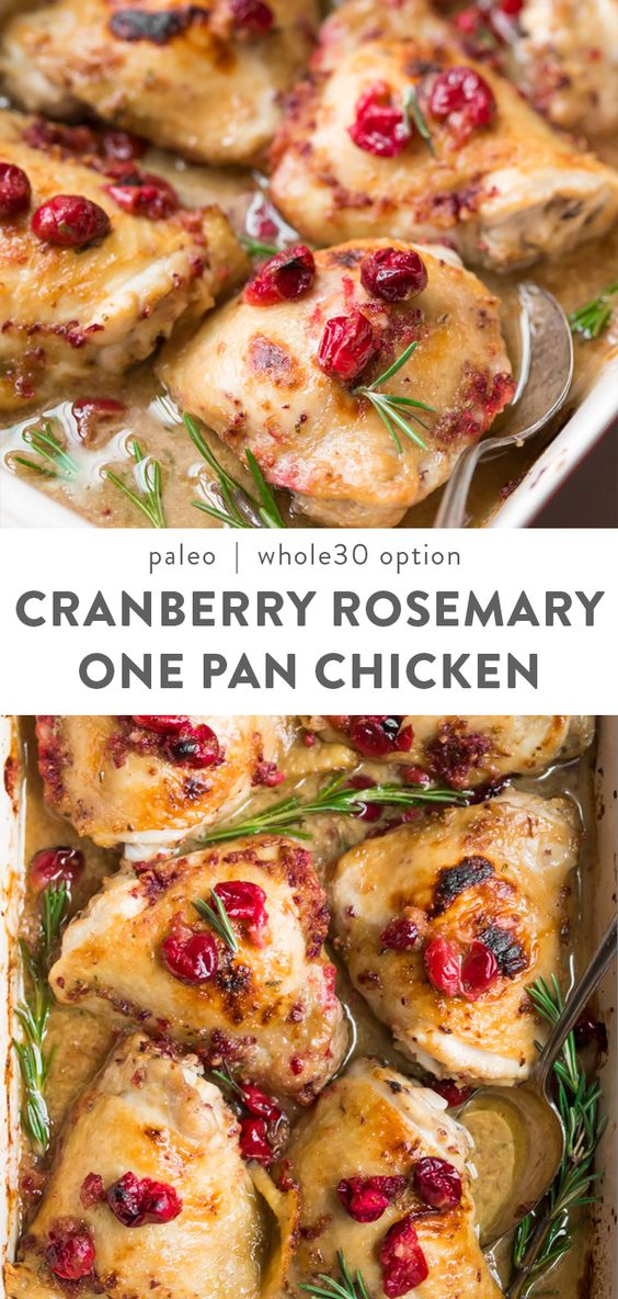 Sheet Pan Chicken with Cranberries