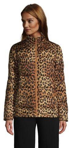 Leopard Down Coat