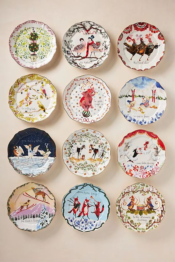 Inslee Farris 12 Days of Christmas Plates