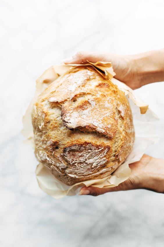 No Knead Bread Pinch of Yum