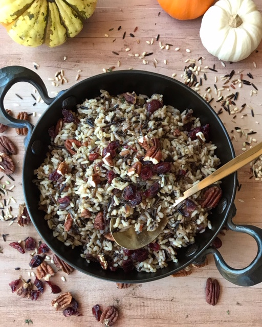Wild-rice-cranberries