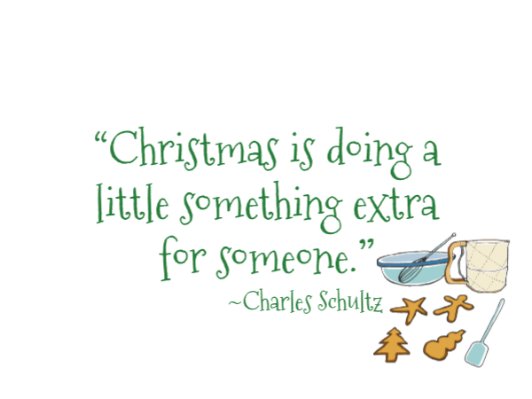 Christmas quote with baking supplies