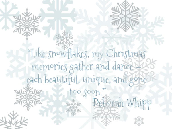Christmas Snowflake Quote