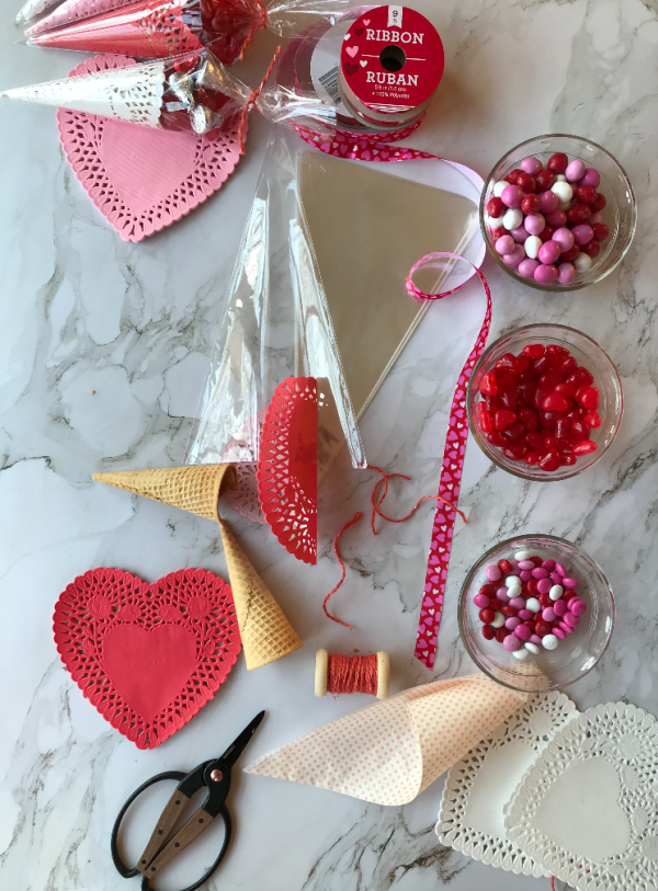DIY Valentines Day Treats with Doilies and Candy