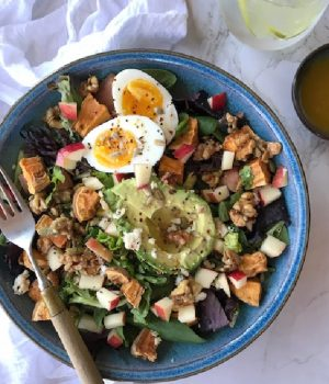 roasted sweet potato spinach salad