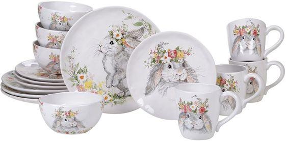 Rabbit dinner set