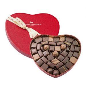 Heart shaped box of La Maison du chocolate