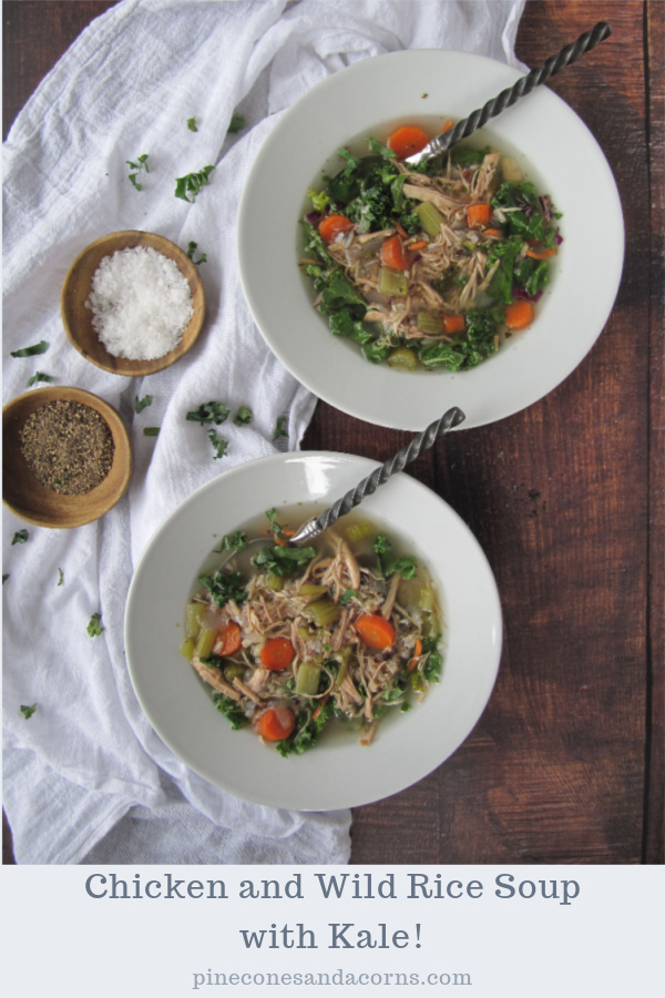 chicken and wild rice soup with kale