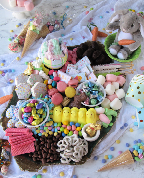 Easter-candy-charcuterie-board-cake