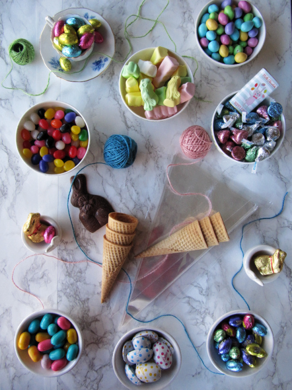 Easter candy in bowls