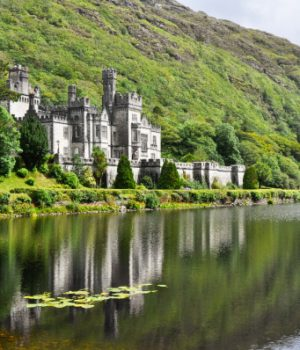 Castle on the water in Ireland