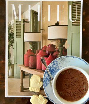Mileu Magazine and hot chocolate