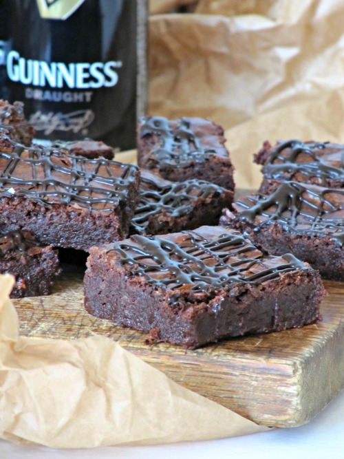 chocolate fudge brownies with Guinness stout