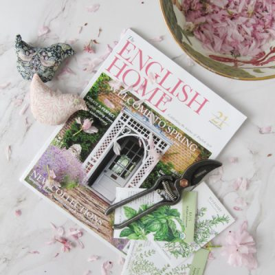 gardening seed packets and the English home magazine